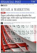 Finanical Post Retail & Marketing Article Calendars