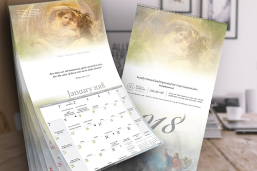 Catholic Church Art Mcall Garden Funeral Home Imprint Calendar